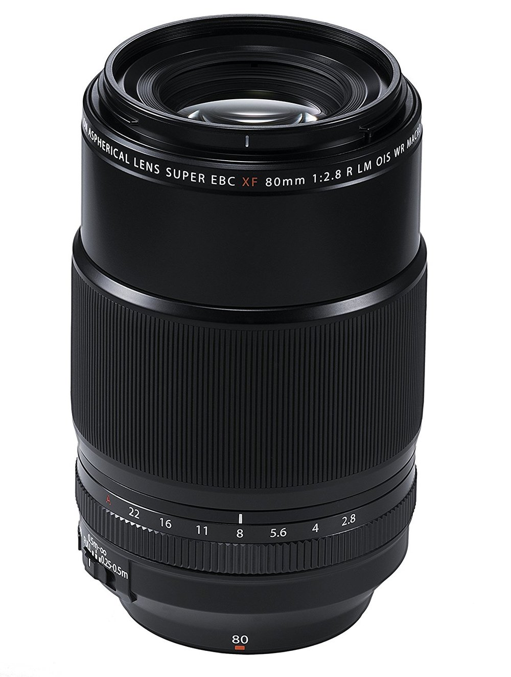 Fuji 80mm f/2.8 Macro OIS - The Fujinon 80mm F/2.8 Macro is a bit less visually dramatic than the 90mm F/2, which is a double edged sword.On one hand, it's shorter and slower, so it can be seen a more of an all-arounder and less of a specialized portrait – specifically head shot – lens. But on the other hand, the equivalent 120mm focal length is far more versatile than the 90mm F/2's equivalent 135mm focal length.The sharpness is near identical, but what really gives the 80mm F/2.8 it's spot as a top three Fuji portrait lens recommendation is the OIS (optical image stabilization) – and no, that's not only important for videographers.See, higher your focal length, the higher your shutter speed has to be to reduce camera shake (you can read more about that here). With the 80mm's OIS turned on, you can hand-hold this lens comfortable down to even 1/60th, allowing you to shoot in lower light situations with ease. From an exposure perspective, this more than makes up for the difference in aperture between the 80 and 90.And while the macro focusing distance isn't necessarily vital for photographers, it does allow you to get more creative at photographing your subjects details: cupids bow, iris, and more.