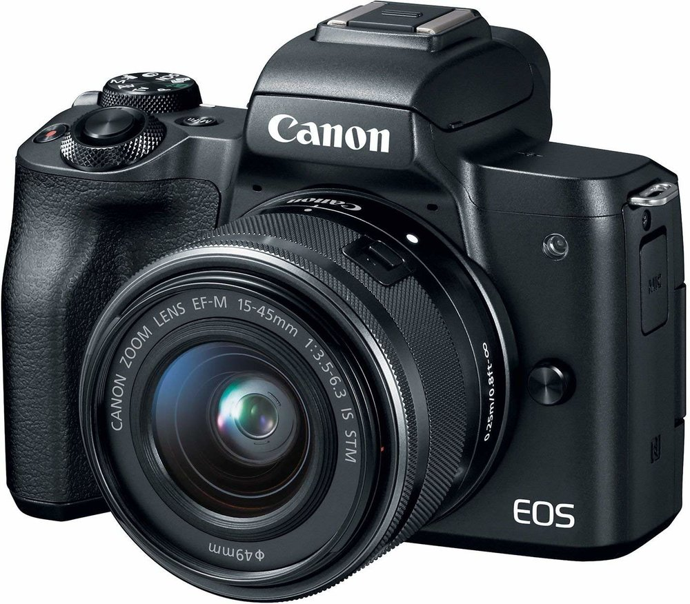 Canon EOS M50 - Specs: APC-S Sensor, 24.1 MP, 4K VideoWho's it for? Photographers looking for a cheap, intuitive mirrorless camera with Canon's latest processor.