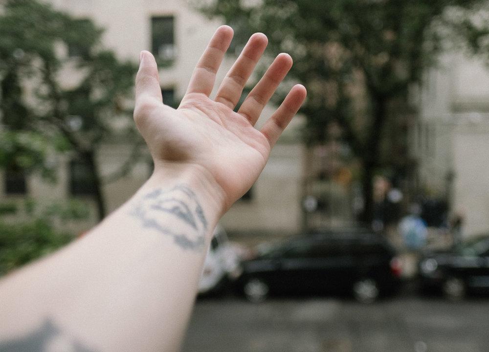 Outstretched hand. Fuji X-pro2, Fuji XF 16mm f/1.4 WR.