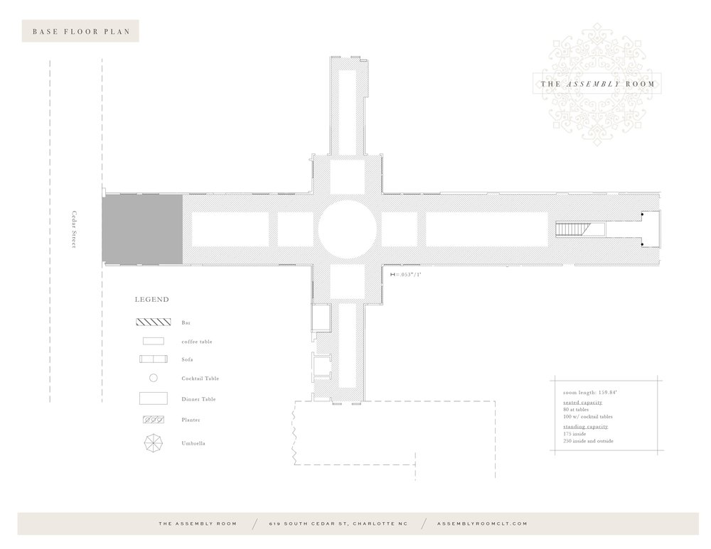 The Assembly Room Base Floor Plan