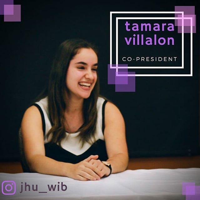 Ronny D is pretty cool, but have you met Tamara Villalon? 🎓 #jhuwib #strongwoman - - - Tamara Villalon is our first WIB Spotlight! A fearless president and advocate for women, Tamara is also involved in @akpsi_jhu, @jhukappa, the advisory board of @jhucareercenter, and a TA for the Intro to Business class. This summer, she completed her second consulting internship with @accenture! Catch an episode of the Bachelorette with her but only if it's the first or second of the season. (She doesn't have patience for the fluff in between)