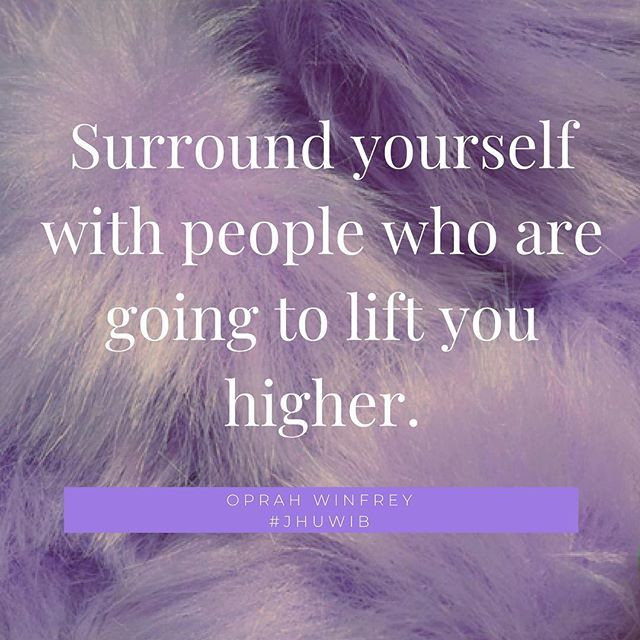 Tag someone who you want to thank for always lifting you higher 💜 #jhuwib