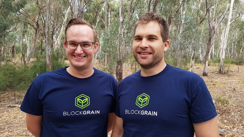 BlockGrain's COO Sam Webb (left) with CEO Caile Ditterich (right).