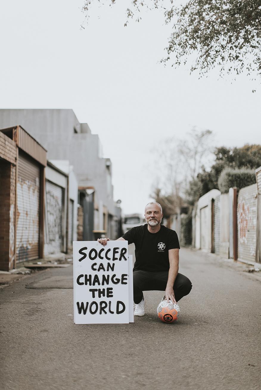 Sam Davy, co-founder of PARK Social Soccer Co.