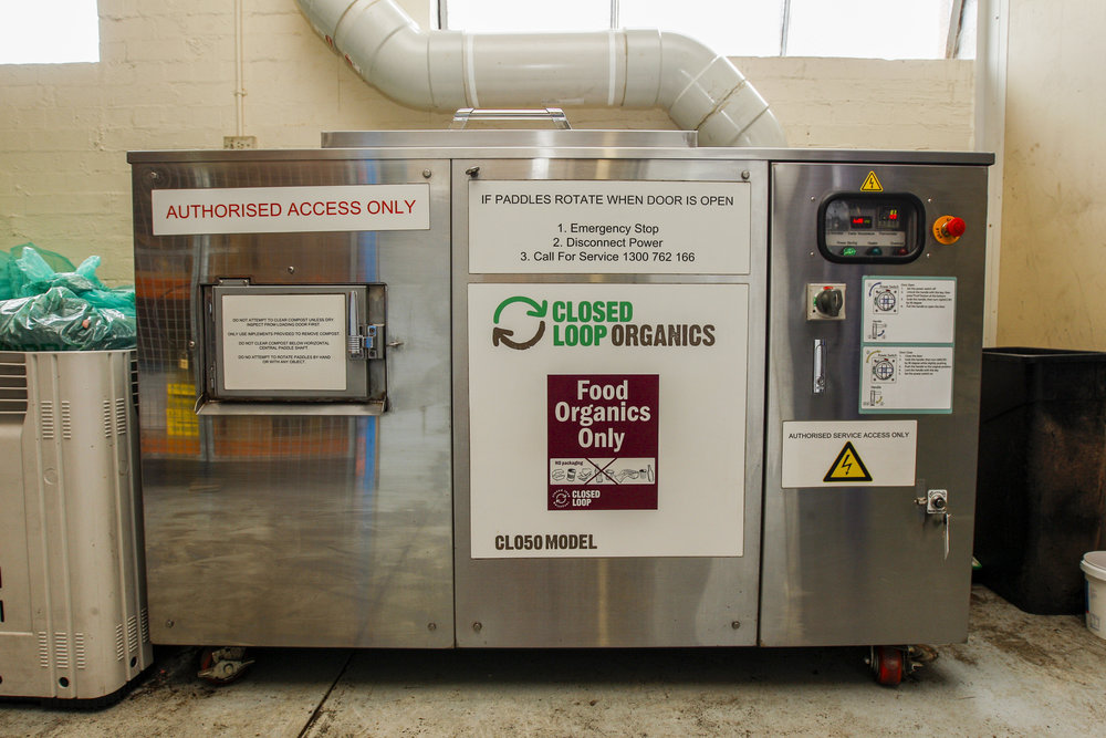 Oklin 's CL050 Organics unit can turn waste into compost in 24 hours.   Image courtesy of Closed Loop