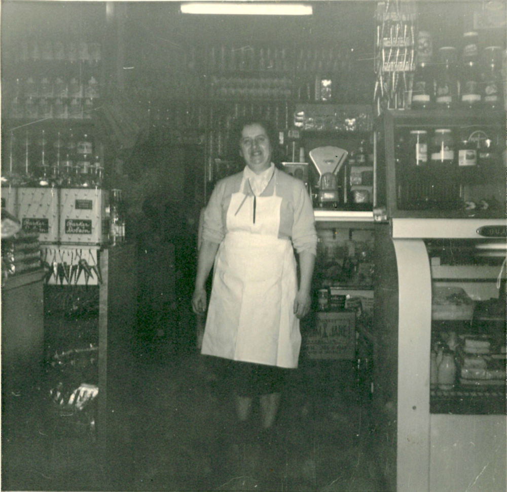 Rose Lewis in her shop, Monarch Cakes, on Acland Street, St Kilda.