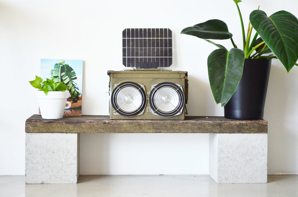 One of AMPLFY's DIY bluetooth speakers.