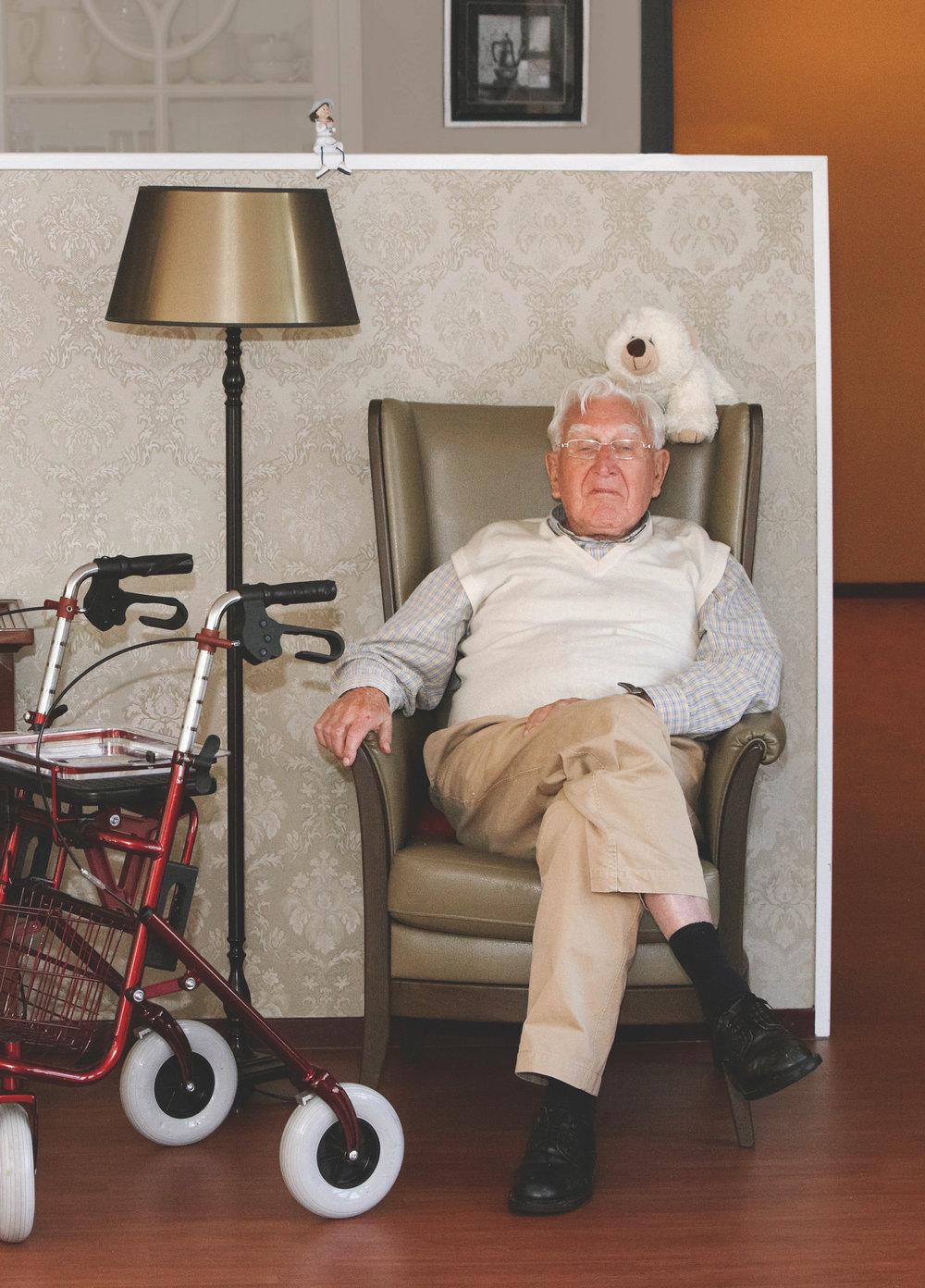 A resident of the Korongee dementia vilage in Tasmania. Photo by Anita Edridge