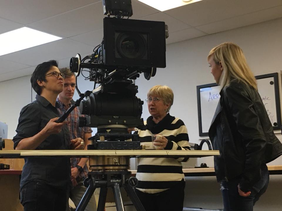 WIF member Lulu Gargiulo checking out the ARRI Alexa Mini with Zita Mazzola and friends at WIF Second Tuesday, hosted by one of our benefit partners, Koerner Camera in Seattle.