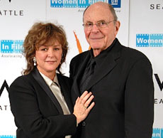 Bonnie Bedelia and presenter Stewart Stern
