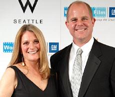 WIF President Virginia Bogert, & sponsor, Brad Brotherton