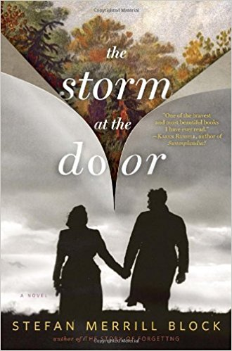 The Storm at the Door - The past is not past for Katharine Merrill.  Even after two decades of volatile marriage, Katharine still believes she can have the life that she felt promised to her by her first exhilarating days with her husband Frederick.  For those two months, just before Frederick left to fight in World War II, Katharine received his total attentiveness, his limitless charms, his astonishing range of intellect and wit.  Over the years, however, as Frederick's behavior and moods have darkened, Katharine has covered for him, trying to rein in his great manic passions and bridge his deep wells of darkness:  an unending project of keeping up appearances and hoping for the best.  But the project is failing.  Increasingly, Frederick's erratic behavior, amplified by alcohol, distresses Katharine and their four daughters, and gives his friends and family cause to worry for his sanity.  When, in the summer of 1962, a cocktail party ends with her husband in handcuffs, Katharine makes a fateful decision:  she commits Frederick to Mayflower Home, America's most revered mental asylum.There, on the grounds of an opulent hospital populated by great poets, intellectuals and madmen, Frederick tries to transform his incarceration into a creative exercise, to take each meaninglessly passing moment and find the art within it.  But as he lies on his room's single mattress, Frederick wonders how he ever managed to be all that he once was: a father, a husband, a business executive.  Under the faltering guidance of a self-obsessed psychiatrist, Frederick and his fellow patients must try to navigate their way through a gray-zone of depression, addiction, and insanity.Meanwhile, as she struggles to raise four young daughters, Katharine tries to find her way back to Frederick through her own ambiguities, delusions, and the damages done by her rose-colored belief in a life she no longer lives.Inspired by the author's grandparents, this haunting love story shifts through time and reaches across generations.  Along the way, Stefan Merrill Block stunningly illuminates an age-old truth:  even if one's daily life appears ordinary, one can still wage a silent, secret, extraordinary war.