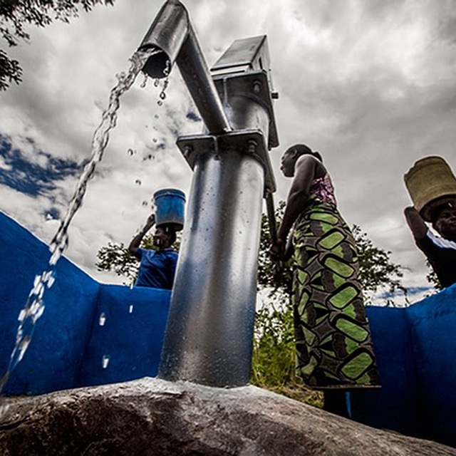 Sustainable water solutions enable remote communities  to access clean water. -