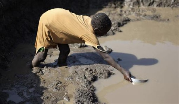 According to the World Health Organization.. -  4,500 children die daily due to contaminated water in Africa.