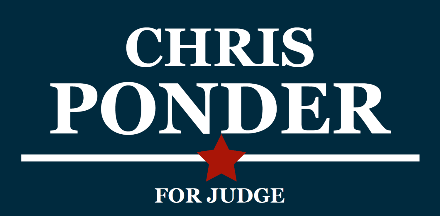 Chris Ponder for Judge