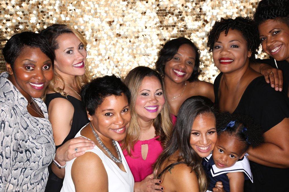 The get fresh crew.. L'jeanne, Angele, Nikki, Deidra, Diana, Aminisha and Shawn. And little diva in training Ella