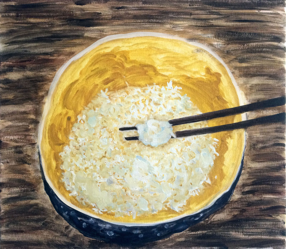 A bowl of rice, Oil on canvas, 2017.jpg