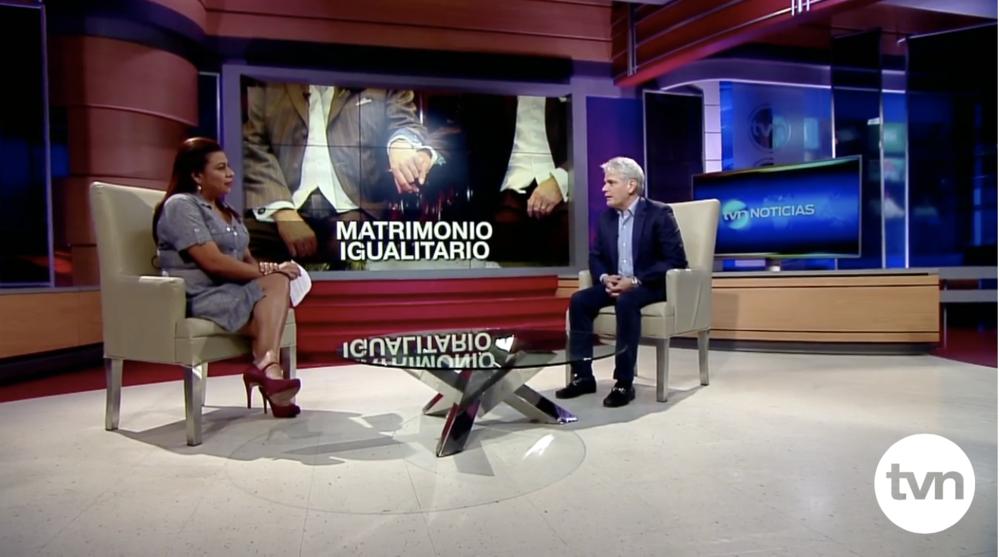 Entrevista de Enrique Jelenszky en  TVN Panamá,  magistral clase de derechos humanos.