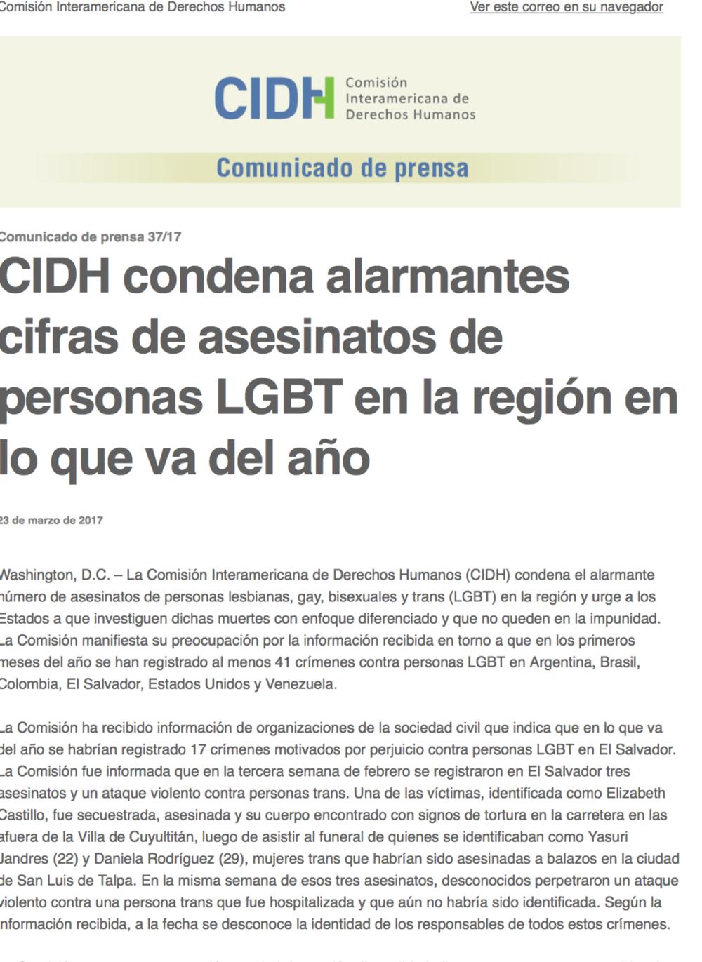 Comunicado de prensa-CIDH-sobre-crimines-de-odio-población-LGBTI