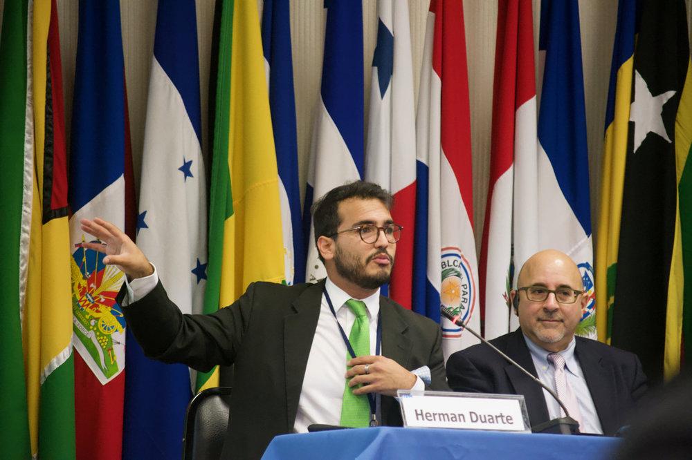 Herman Duarte y Evan Wolfson en la inauguración del  I Congreso de Matrimonio Civil Igualitario