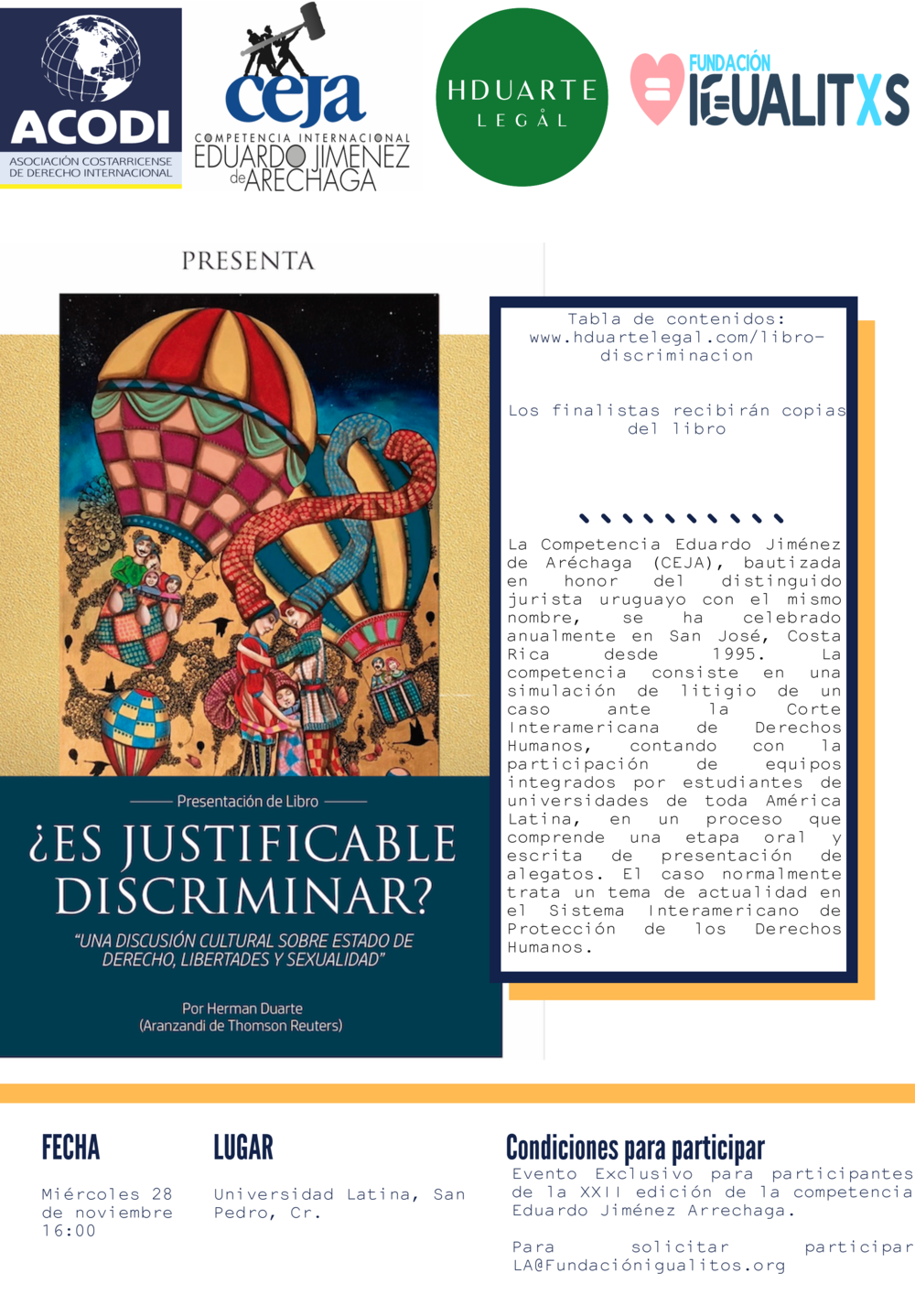 Competencia-Jimenez-Arrechaga-Acodi-Costa-Rica-Herman-Duarte-Libro-Discriminacion-Fundacion-Igualitos-Hduarte-Legal-Ulatina-San-Pedro