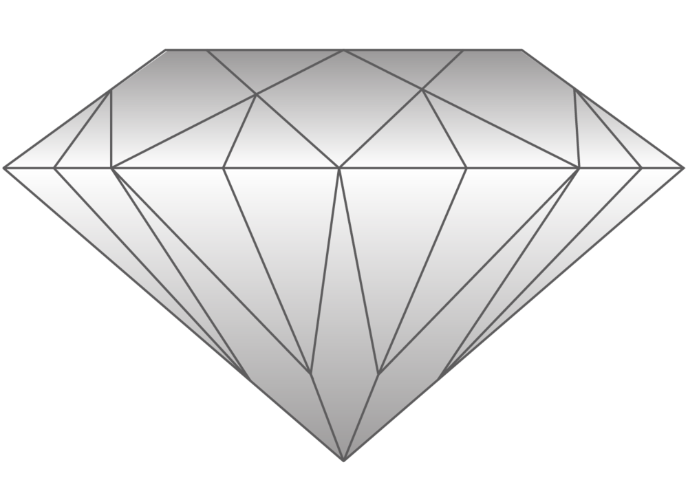 Well Cut Stone - Despite the size variation in stones of the same weight, nothing will be as beautiful as a perfectly cut diamond. While weight and size are clearly related, the carat weight of a diamond is not its size, and the cut of each and every stone is essential to its value.