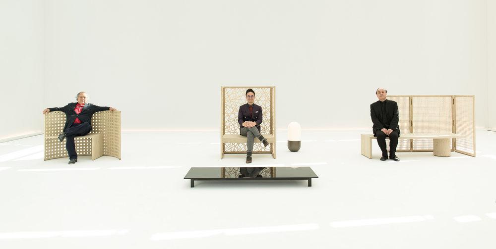 Adrian Cheng and master craftman Chuzo Tozawa presented at the exhibition in Milan.