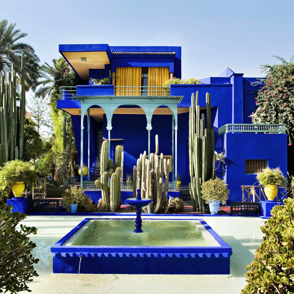 Yves Saint Laurent spent many of his later years at the Majorelle Garden. It has become one of the top tourist destinations in Marrakech.