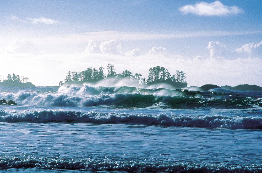 Tofino — set at the end of a peninsula on the island's rugged west coast and surrounded by the Clayoquot Sound on three sides and the Pacific Rim National Park on the other.