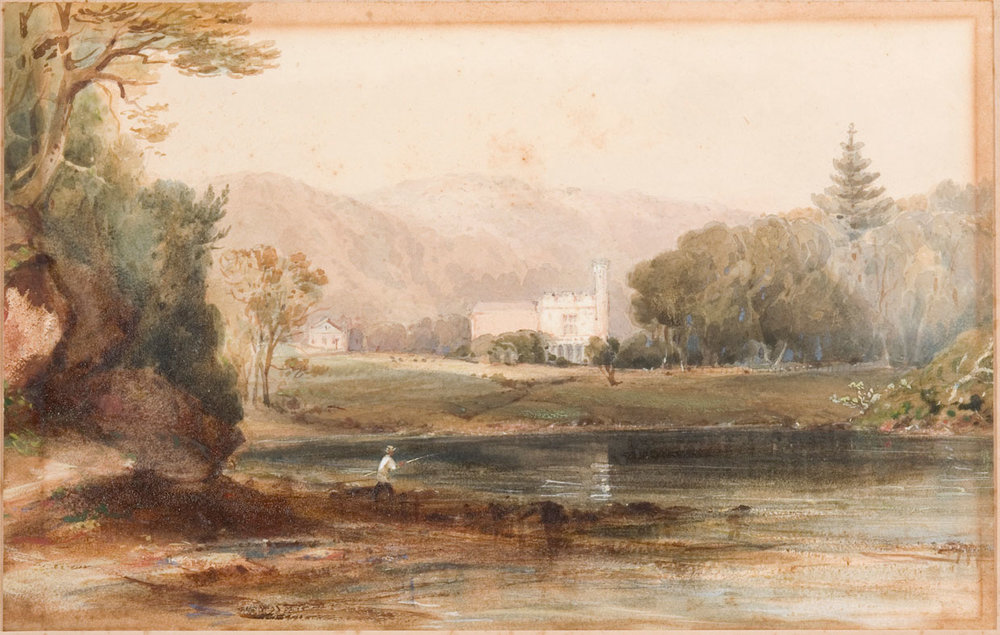 Vaucluse House‭, ‬Conrad Martens‭, ‬c1841‭, ‬watercolour‭.‬ Sydney Living Museums