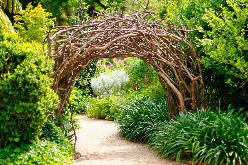 Rustic Archway in Garden (c) Jody Pachniuk