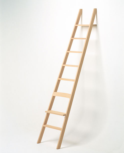 Her first project‭, ‬entitled The Ladder‭ ‬‮$‬ع‭ ‬a ladder that doubles as a chair