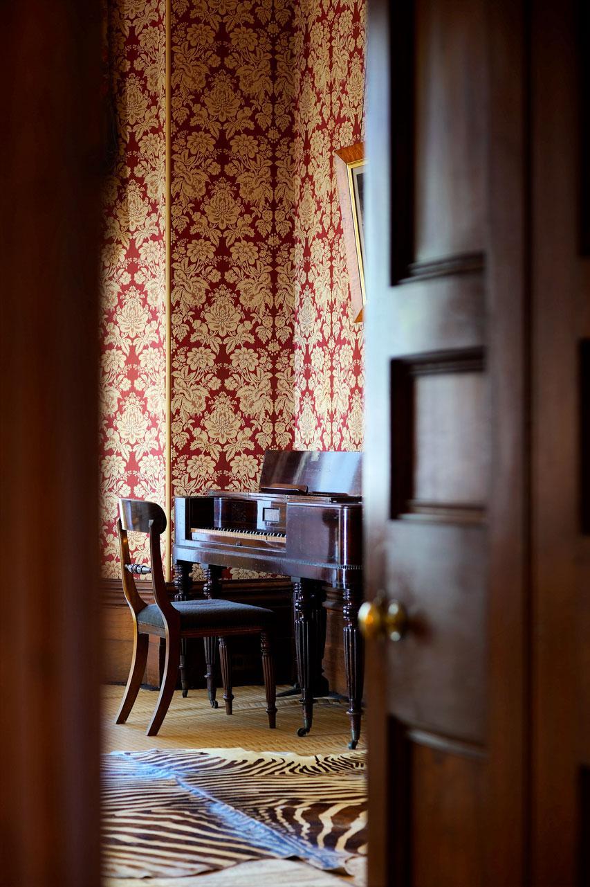 Piano in the breakfast room, Elizabeth Bay House, Sydney Living Museums !E Nicholas Watt