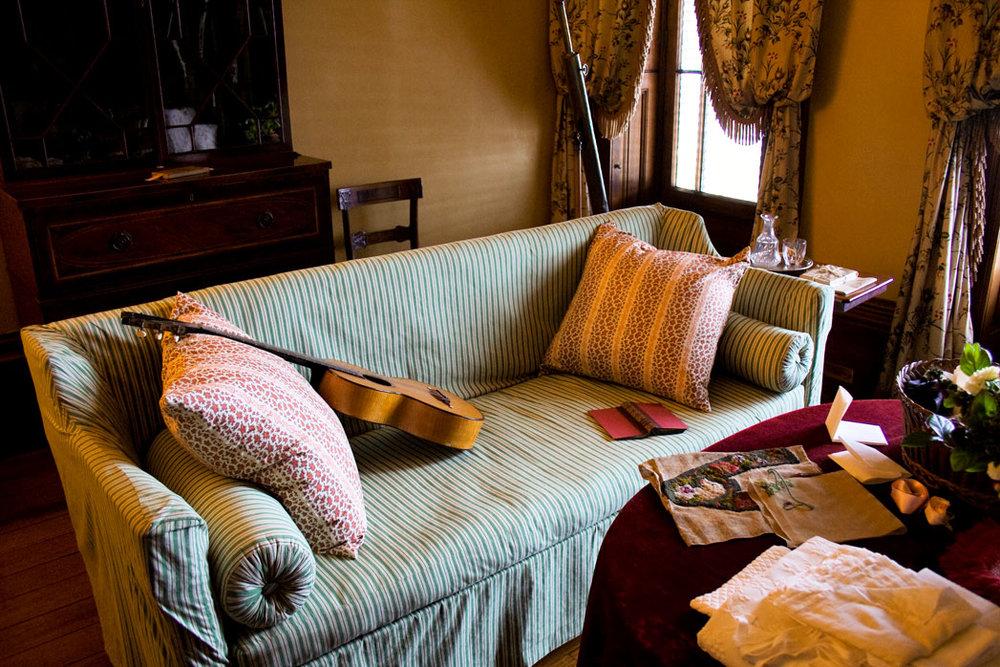 The sofa in the Morning Room, Elizabeth Bay House, Sydney Living Museums !E Leo Rocker