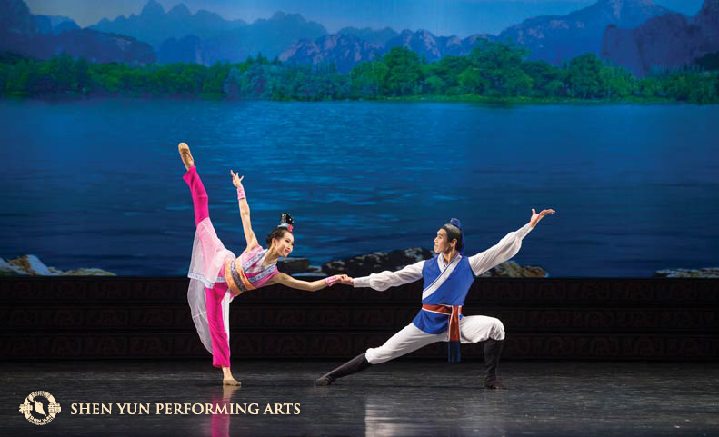From the 2017 program, The Enchanted Painting is a story about a Taoist wizard who gives a young couple a magical paper scroll to combat an evil red dragon.(c) copyrighted by Shen Yun Performing Arts