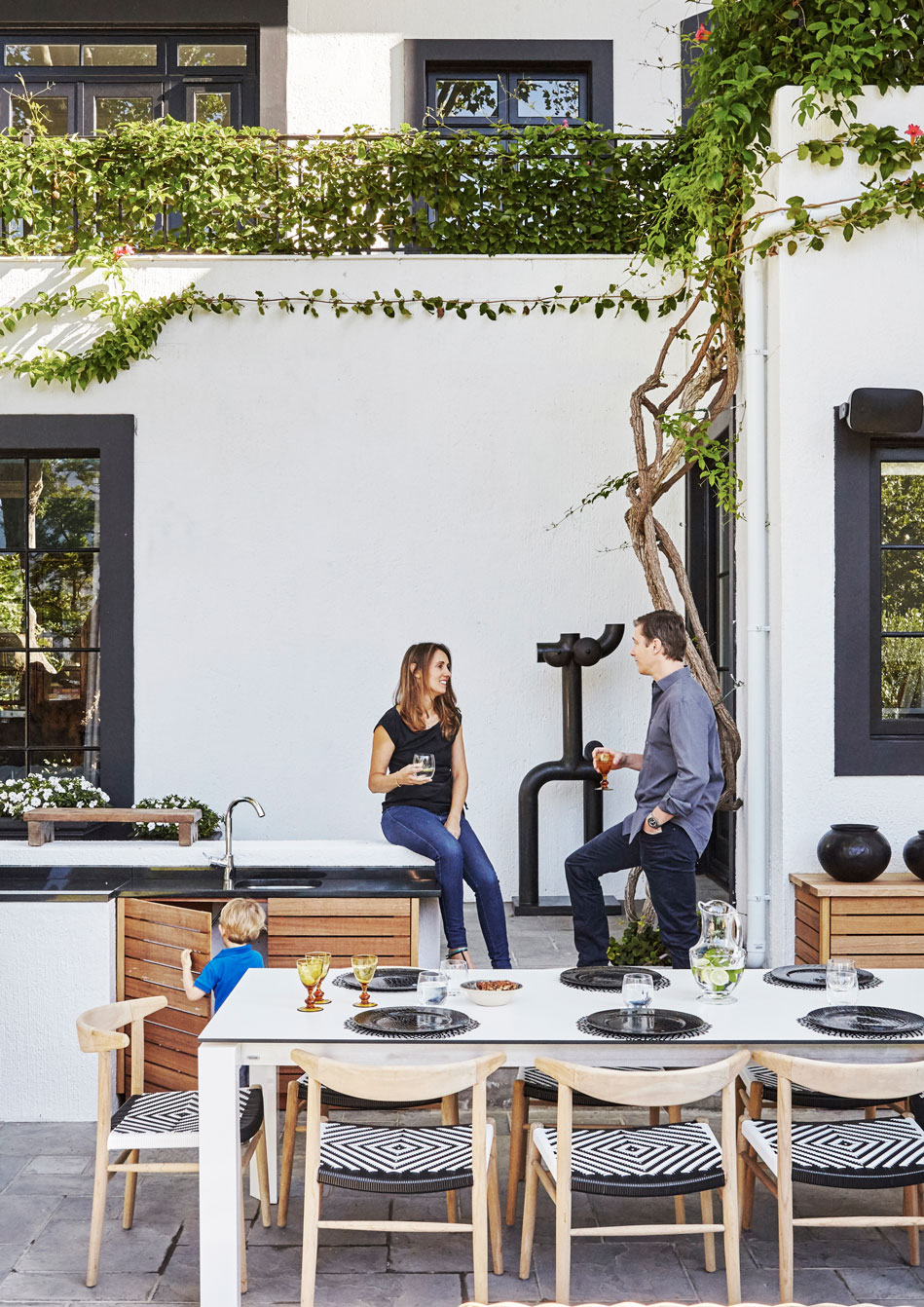The outside area offers plenty of space for entertaining in Cape Town's Mediterranean climate. 'It was very easy for us to imagine our lives here.'