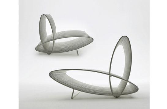 Ellispes Pierantonio Bonacina 2009. This modular seating system allows the realisation of different configutations.