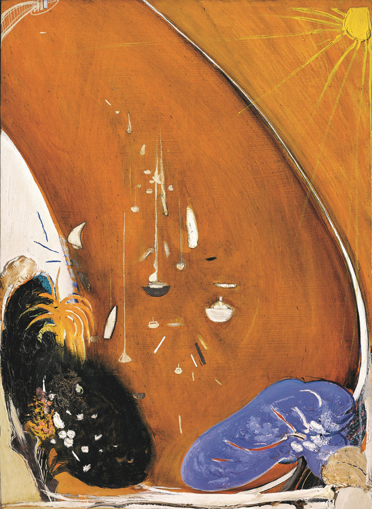 In the bottom park at Lavender Bay there is a jacaranda and a gardenia tree,  Brett Whiteley, 1984–85. Courtesy of Sotheby's Australia © Wendy Whiteley
