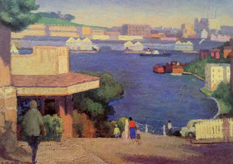 Lavender Bay, Roland Wakelin, c1948, oil on canvas. Photo Justin Miller Art. Courtesy Garry and Susan Rothwell © Estate of Roland Wakelin