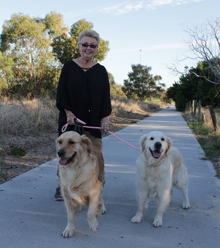 Ruth connah and her beloved girls Mia (l) and ramble (r)