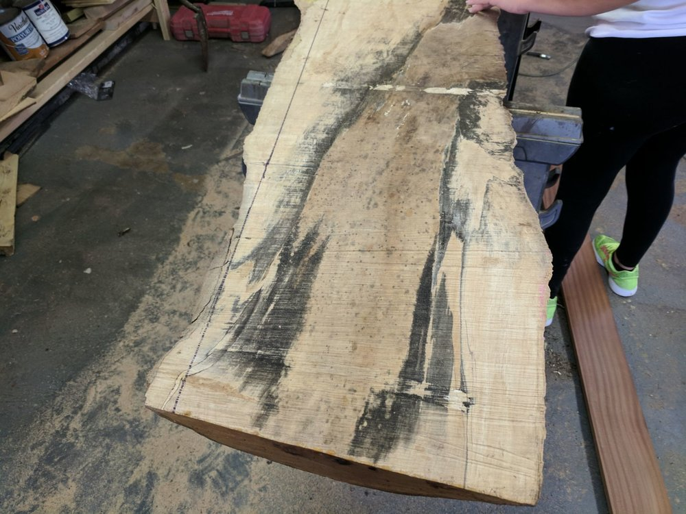 our live edge wood tables are custom craft made to the customer needs  -