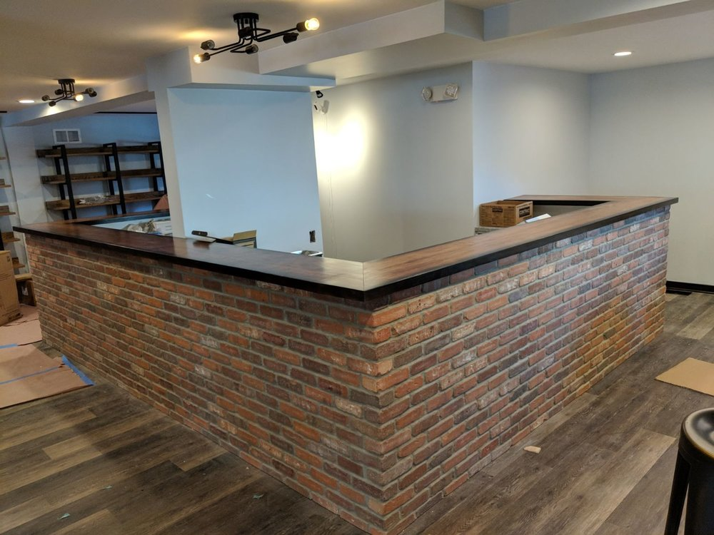 Custom wood bar tops