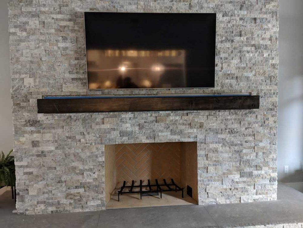 Wood Fireplace Mantels Wood Mantel Shelf Beam Wooden Mantels
