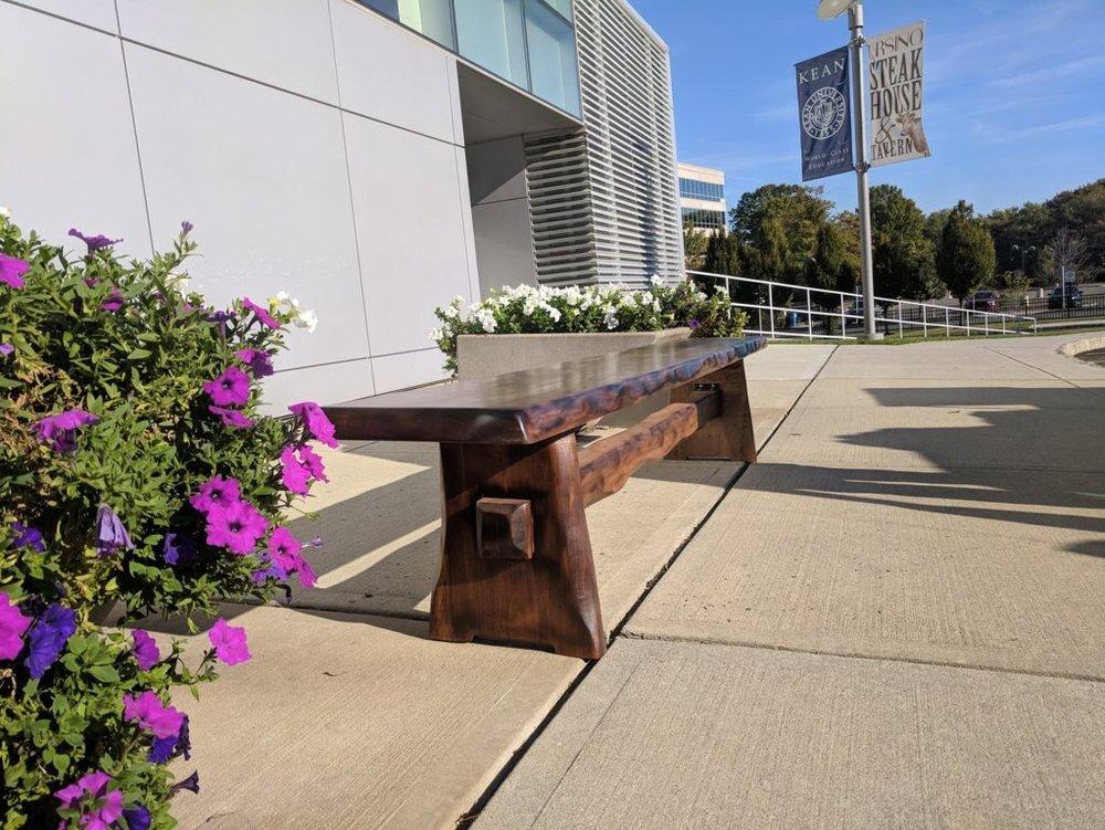 Custom wood bench