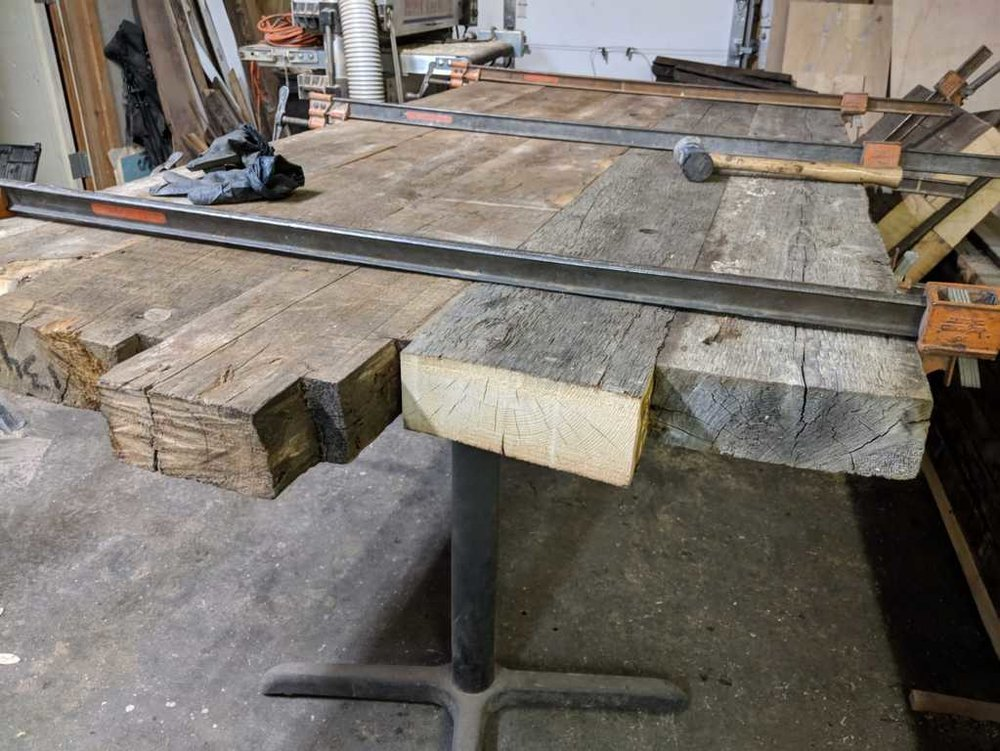 MAKING A RECLAIMED WOODEN TABLE - This reclaimed wood table will be made for a customer located in Brooklyn NYC