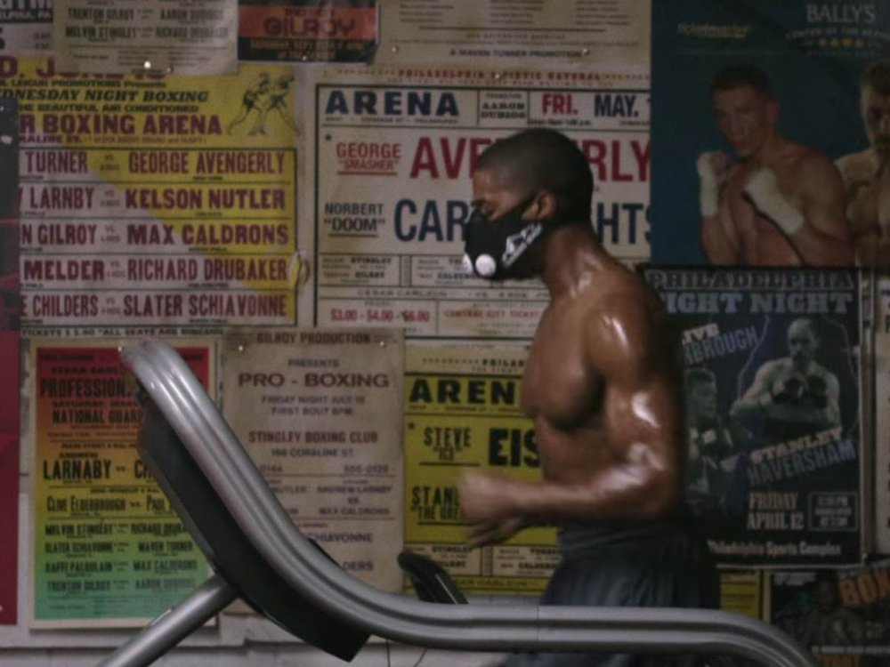 Elevation masks started poppping up more frequently when Creed wore one.  There are zero advantages to wearing an elevation mask outside of looking cool, making them perfect for a training scene in a Rocky movie but pointless for you and I.   Click here to learn why.