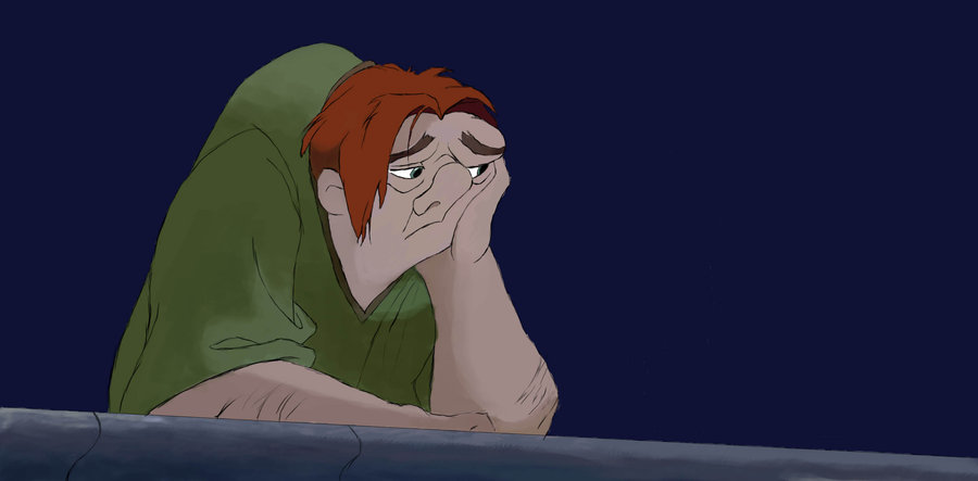 Maybe if Quasimodo didn't neglect his rear delts, he wouldn't look so glum.