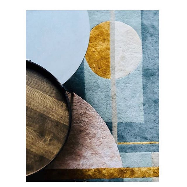 "Repost from @emilyrickardstylist our ""Tone"" rug included in an exciting upcoming project!  #rug #colour #shape #interiordesign #interiorstyling  #styling #homewares #textiles"