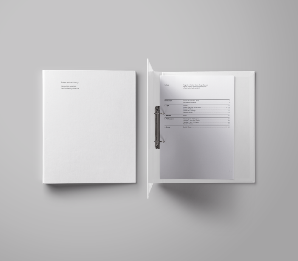 Graphics Standards Manual - Download a comprehensive manual outlining all the design elements in Spontan's branding.