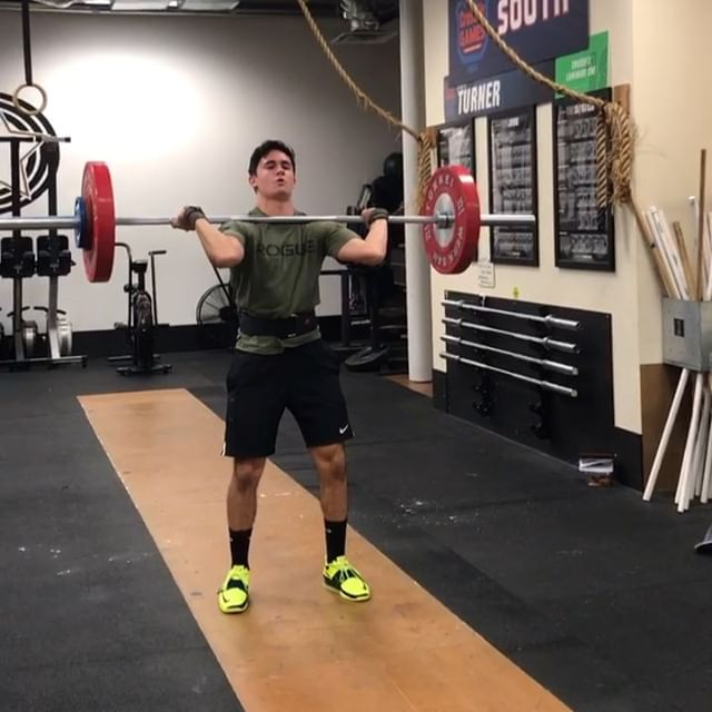Luke finally got to put his technique work to use today - 79 kg clean & jerk and an easy 84 kg clean 😁 Can't wait until the Winter Slam ❄️🏋️‍♂️ #guyswholift #cleanPR #northdallasbarbell @lucasxalvarez55